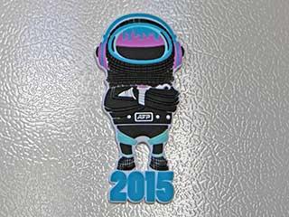 Фирменный магнит на холодильник Alfa Future People 2015