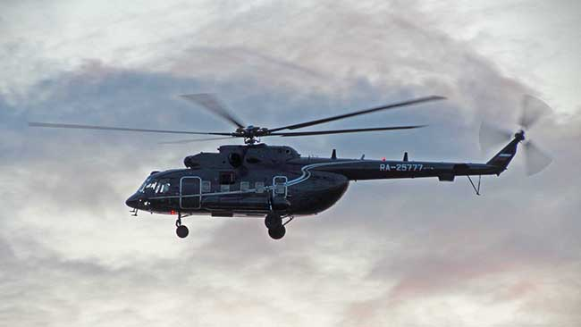 Прибытие ВИП-персон на вертолёте